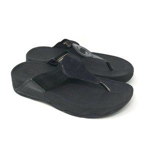 Fitflop Oasis Black Thong Sandals 6
